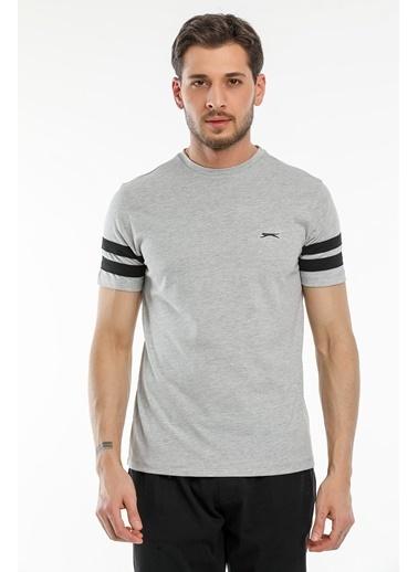 Slazenger Slazenger MANAGE Erkek T-Shirt  Gri